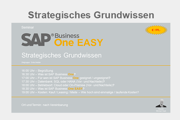 SAP Business One Seminar - Strategisches Grundwissen